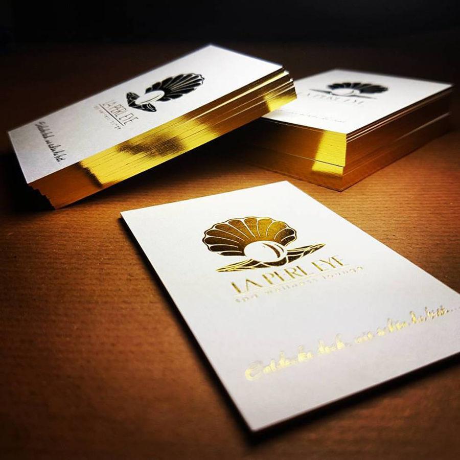 Vollekante Exklusive Visitenkarten Druckveredelung